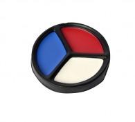 Palette de maquillage tricolore france