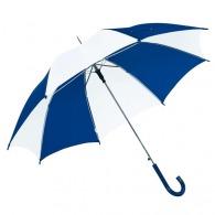 Parapluie publicitaire automatique bicolore à poignée arrondie