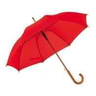 Parapluie publicitaire bois automatique à poignée col de cygne