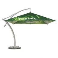Parasol publicitaire déporté carré 3,5m