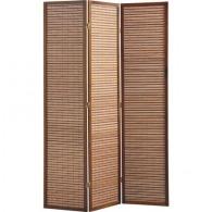 Paravent logoté en bois et bambou