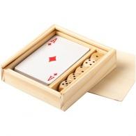 Jeu de cartes avec 5 dés personnalisés