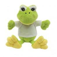 Peluche grenouille publicitaire Frieda