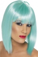 PERRUQUE logotée GLAM TURQUOISE FLUO