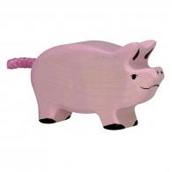 Petit cochon 6cm - porcelet en bois