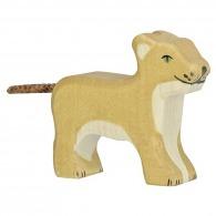 Petit lion en bois - lionceau