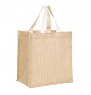 Petit sac shopping en jute 25x26cm
