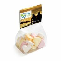 Petit sachet de bonbons logoté avec carte imprimée