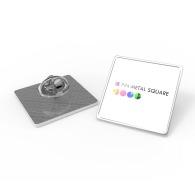 Pin's personnalisés carré métal