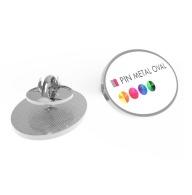 Pin's publicitaires ovale métal