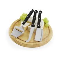 Plateau à fromages logoté livré avec 3 couteaux