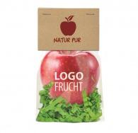 Fruits et légumes avec logo