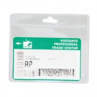 Porte badge PVC horizontal