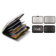 Porte cartes de crédit publicitaire Alu