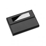 Porte cartes de visite personnalisable reflects-lemnik black