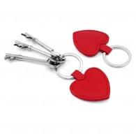 Porte-clés coeur en cuir