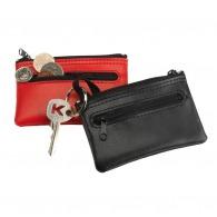 Porte-monnaie logotés porte-clés en cuir