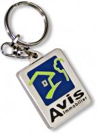 Porte-clés en métal sur-mesure avec personnalisation