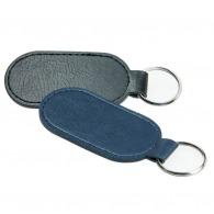 Porte clé ovale en cuir