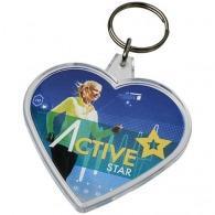 Porte-clefs coeur avec insert