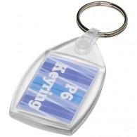 Porte-clés à fenêtre avec insert personnalisé