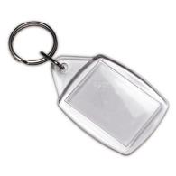 Porte-clés acrylique avec insert papier promotionnel