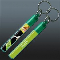 Porte-clés avec insert liquide personnalisable
