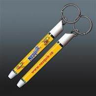 Porte-clés avec insert liquide publicitaire
