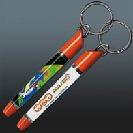 Porte-clés avec insert liquide logotés flottant