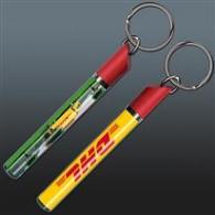 Porte-clés avec insert liquide promotionnel