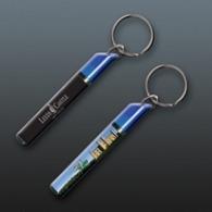 Porte-clés avec insert liquide publicitaires flottant