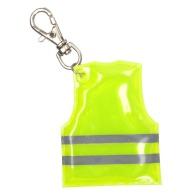 Porte-clés personnalisable avec mini veste réfléchissante