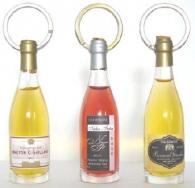 Porte-clés bouteilles de vin avec personnalisation