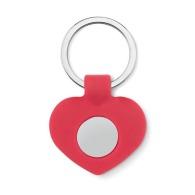 Porte-clés cœur avec jeton personnalisable