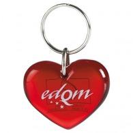 Porte-clés logoté coeur