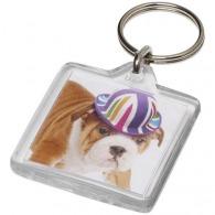 Porte-clés carré à insert photo