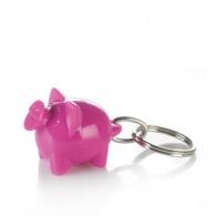 Porte-clés personnalisable cochon happy