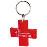 Porte-clés logoté croix