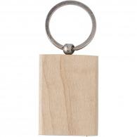 Porte-clés rectangle en bois