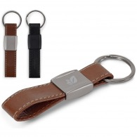 Porte-clés boucle en cuir