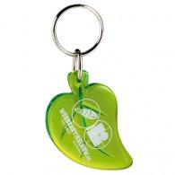 Porte-clés logoté feuille