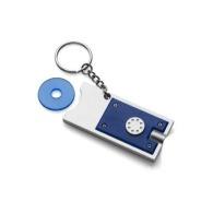 Porte-clés jeton publicitaires avec lampe