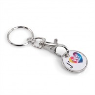 Porte-clés jeton logotés quadri
