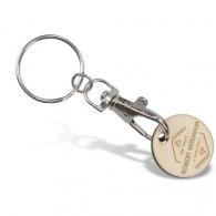 Porte-clés jeton logotés en bois