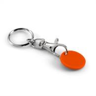 Porte-clés jeton publicitaire classique avec jeton plastique