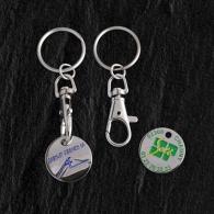 Porte-clés jeton avec logo