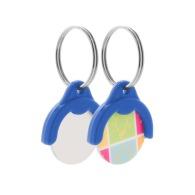 Porte-clés jeton de caddie personnalisable avec impression quadri