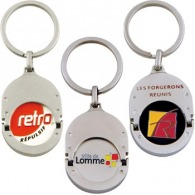 Porte-clés jeton logoté métallique