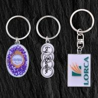 Porte-clés en métal sur-mesure personnalisé