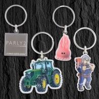 Porte-clés métal quadri premium 35mm